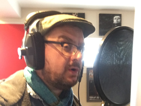 Hot on the heels of his debut cabaret performance, Dom was recording at Mayfield Studios today