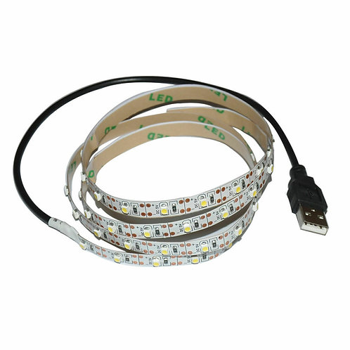 15 Foot LED Strip with USB or Alligator Clip Connections