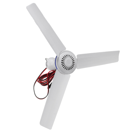 12v 5W Silent Plastic Ceiling Fan with Switch