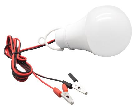12v 6w LED Bulb with Alligator Clips