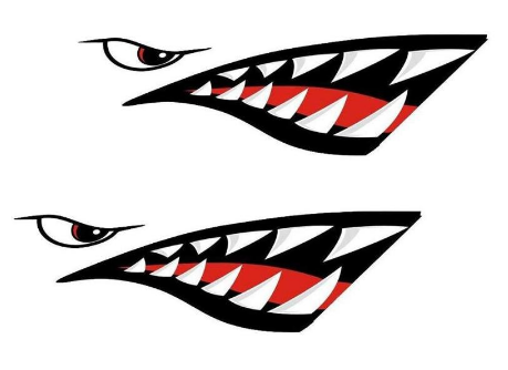 Shark Teeth Vinyl Decal