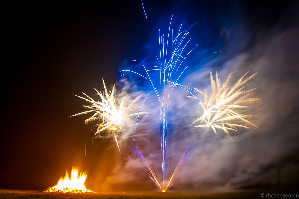 Northern Lights Fireworks Bonfire Night Display