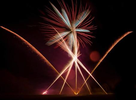 Bagden Hall (Yorkshire) Wedding Fireworks by Northern Lights Fireworks