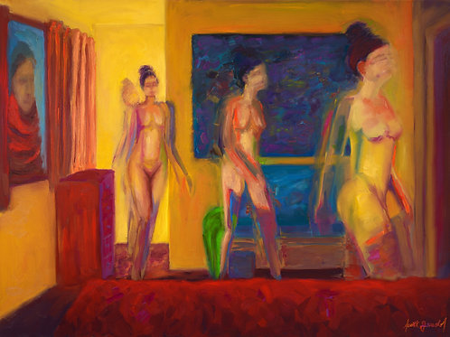 Nude Through a Room