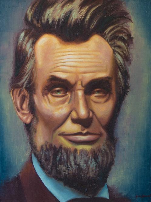 Abraham Lincoln (Blue Background)