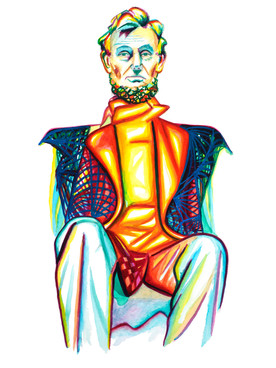 Scott Jacobs Gallery, Watercolor, Abraham Lincoln