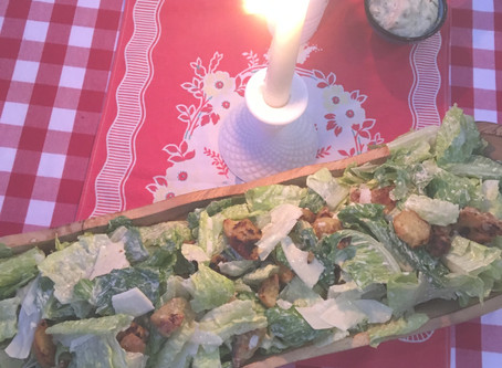 Best Caesar Salad with Garlic, Parmesan Cheese Croutons!