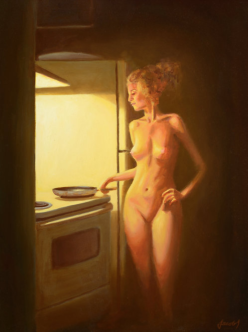 Woman By The Stove