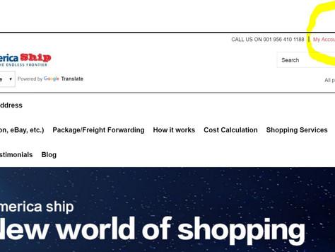 America Ship launched Customer Portal