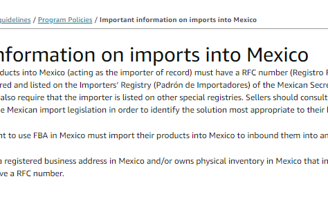 RFC ID is not mandatory on Amazon Mexico