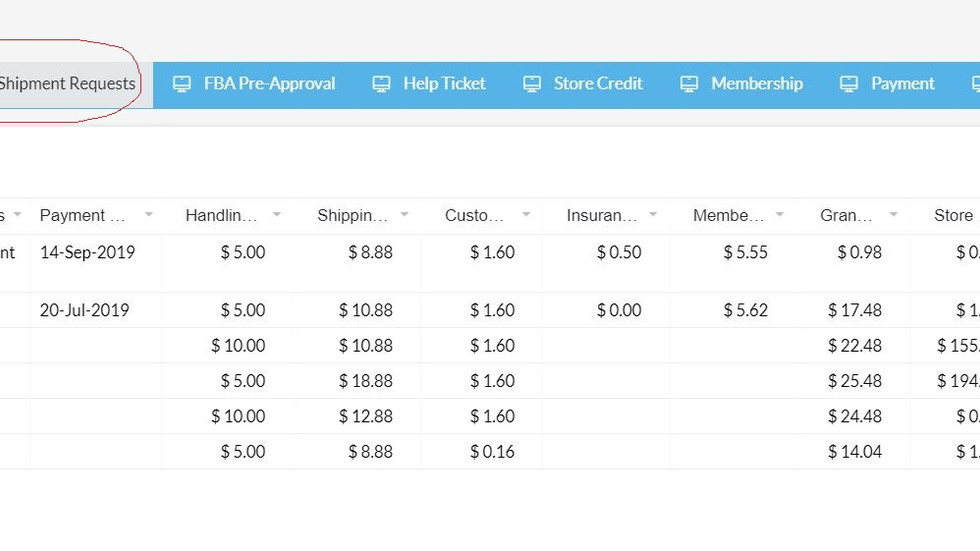 Retrieve invoices for payments made to America Ship