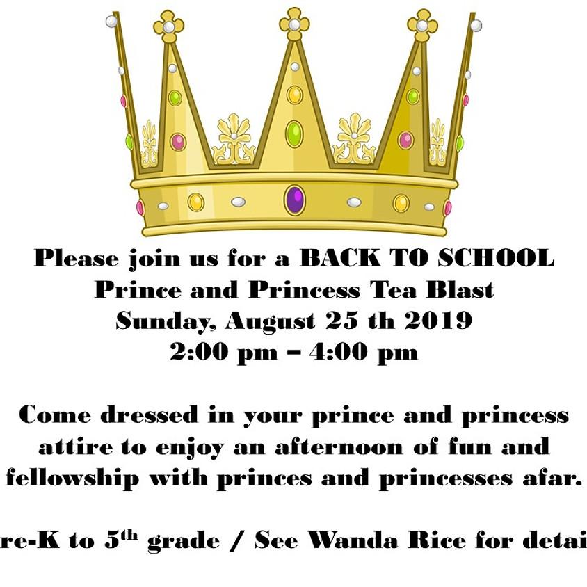 Back to School - Prince and Princess Tea Blast