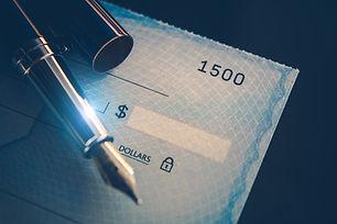 Writing Check Payment Using Elegant Foun