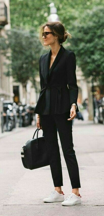 Women Suits and Sneaker Trend - FashionA