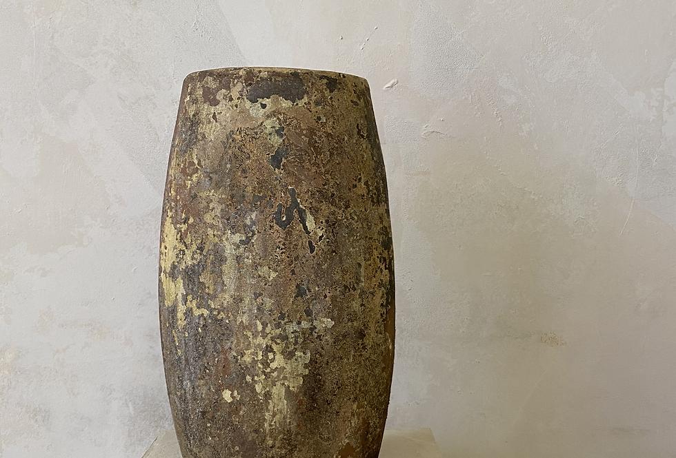 Mottled Tall Flat Indonesian Vase
