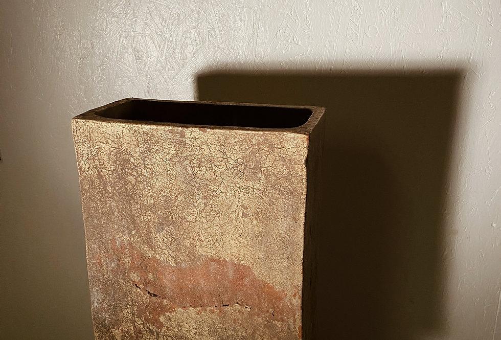 Mottled Rectangular Vase