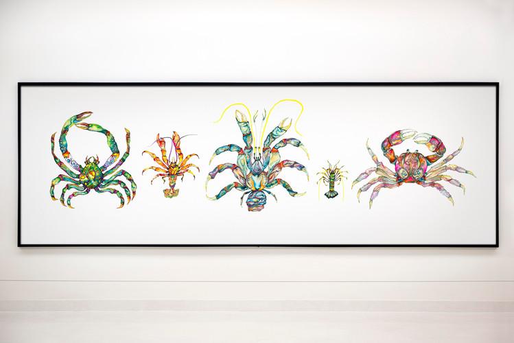5 crabs long framed.jpg