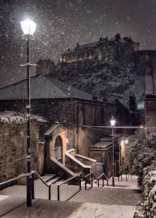 Vennel in snow, Edinburgh