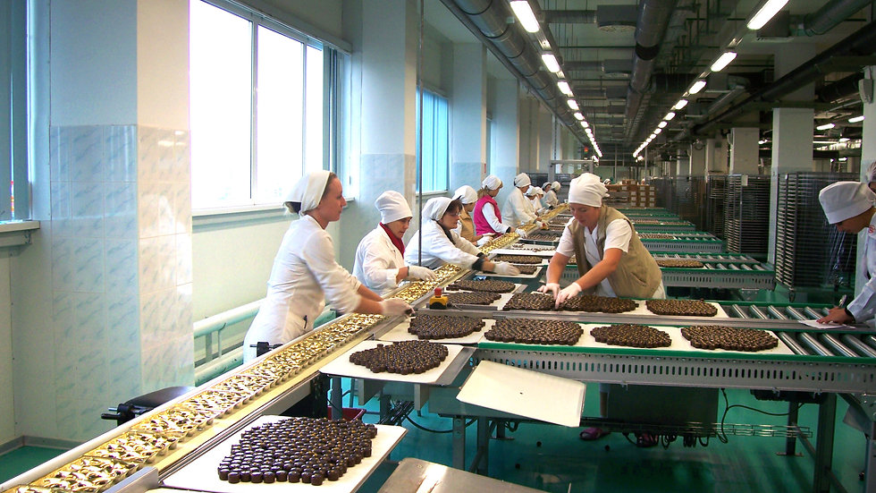 концерн Рот-Фронт, экскурсия на шоколадную фабрику