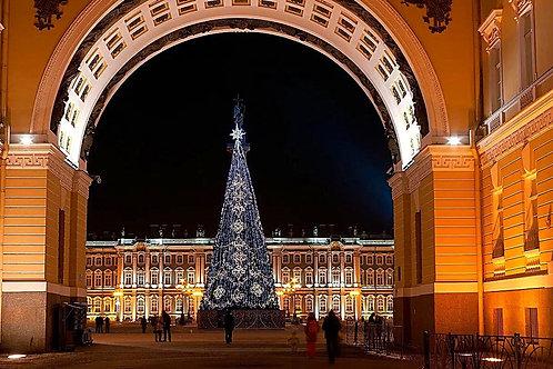 Новогодние каникулы в Петербурге, 5 дней, автобусный тур