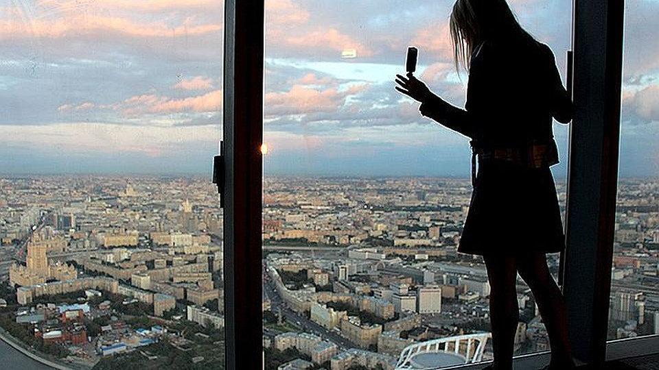 Москва-сити, с высоты птичьего полёта