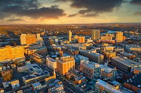 Aerial of Sunset Over New Brunswick NJ.jpg