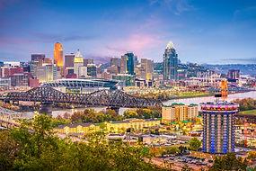 Cincinnati, Ohio, USA skyline at dusk..jpg