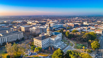 Drone Aerial View of Downtown Columbia, South Carolina, USA..jpg