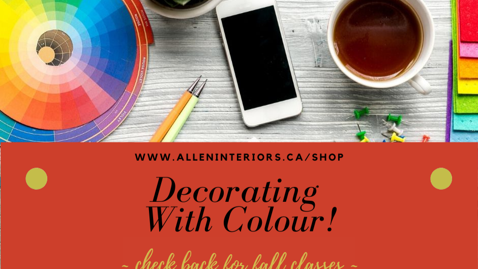Decorating With Colour!