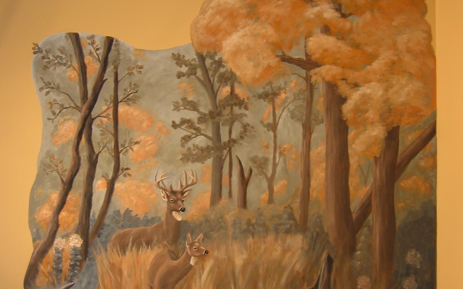Custom wall mural.