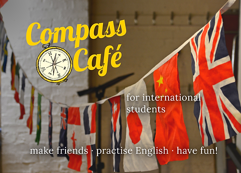 Compass cafe flyer cambridge international students