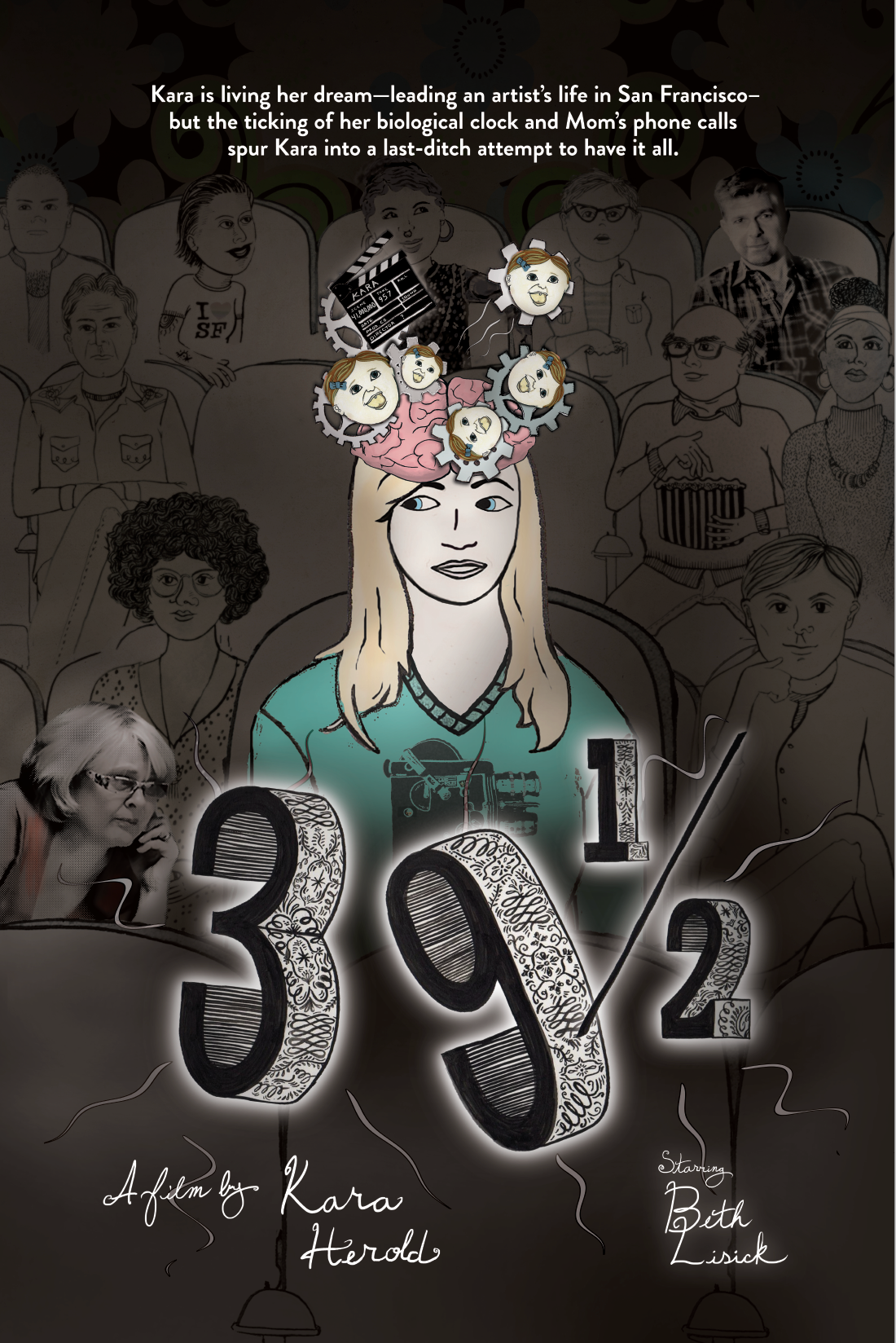 39 and a Half poster I created for theater display