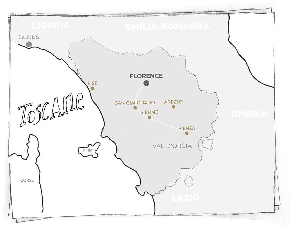 Blog Viaggi Italia Marcellooo.fr Toscana Mappa Itinerario Consigli Indirizzi