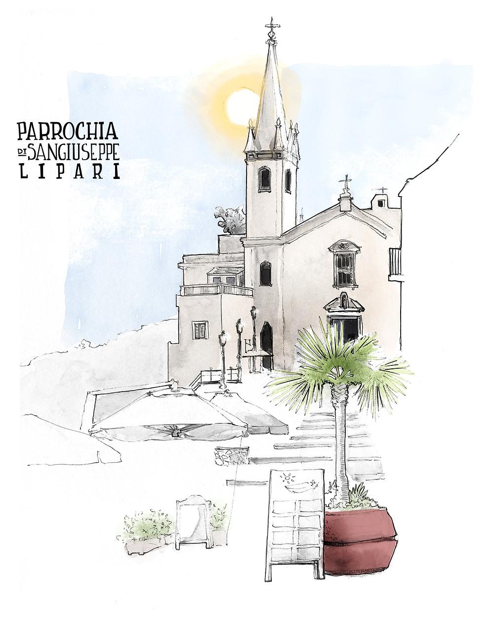 Lipari Drawing Jdan Aeolian Islands Marcellooo Blog Sicily Italy