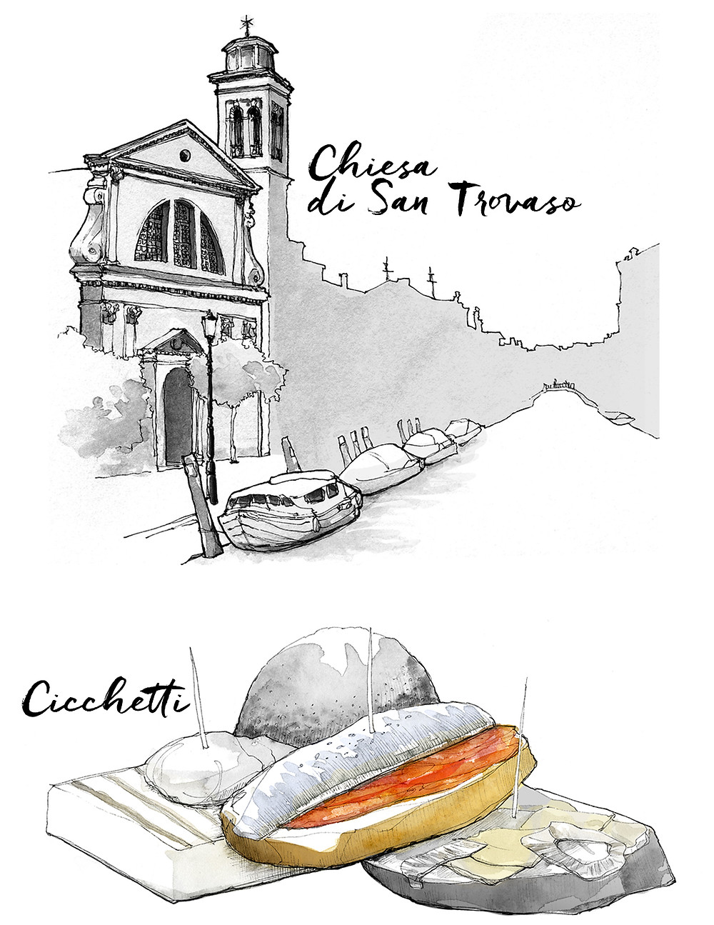 Blog Travel Italiy Marcellooo.fr Venice itinerary advices addresses drawing Jdan