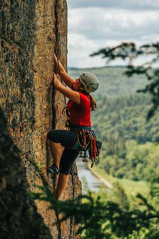 Escalade de roche