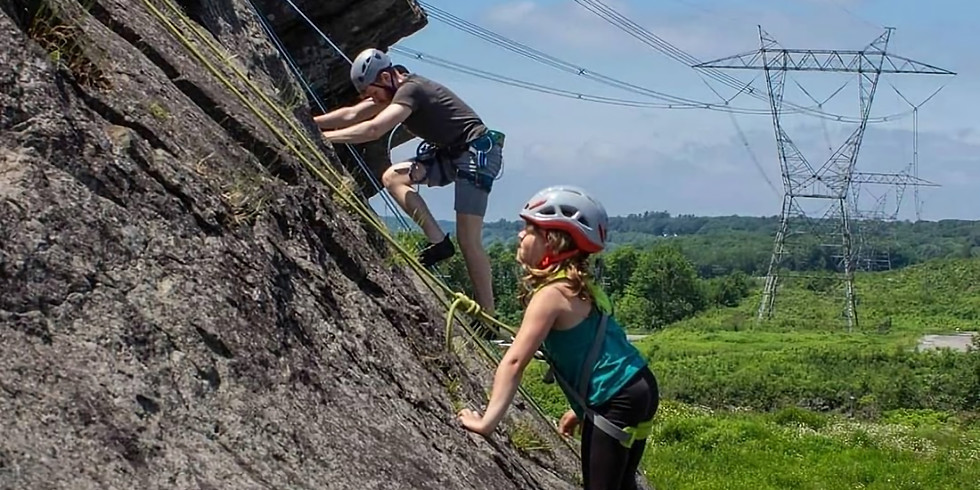 Découverte de l'escalade de roche