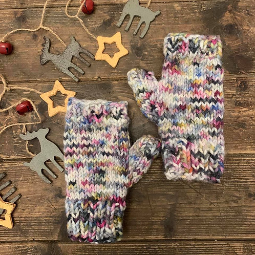 Chunky Fingerless Mitts Knitting Pattern PDF Download