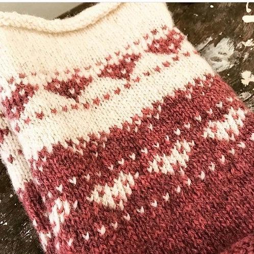 Roll Edge Heart Cowl Knitting Pattern PDF Download