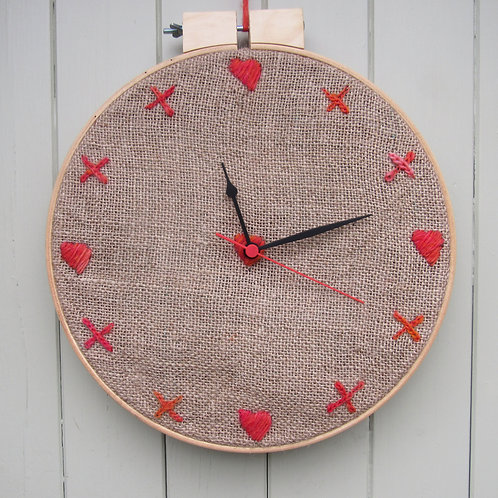 Embroidered Clock Tutorial PDF Download