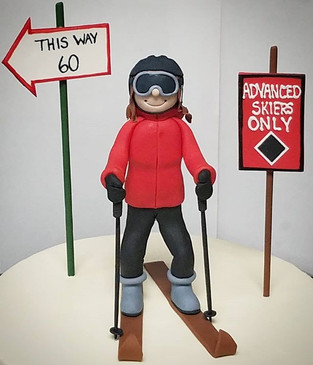 A skier figurine from work this past wee