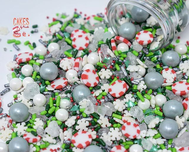 Peppermint Christmas Sprinkle Mix