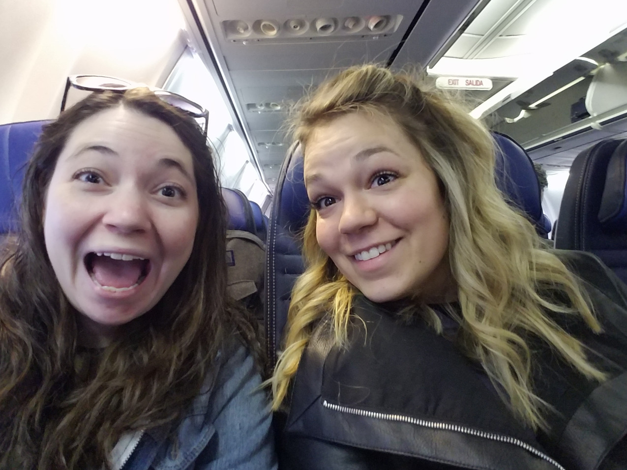 On Our Flight to LA