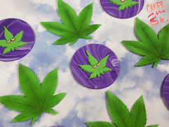 cannabis leaf set