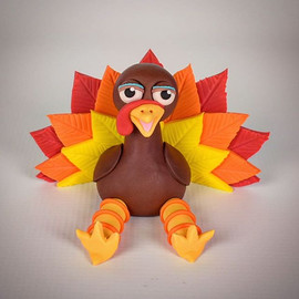 Tutorial for this Turkey Cake Topper is