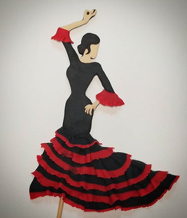 Cute Flamenco dancer cake topper from th