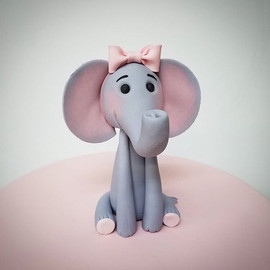 A cute little elephant topper from work