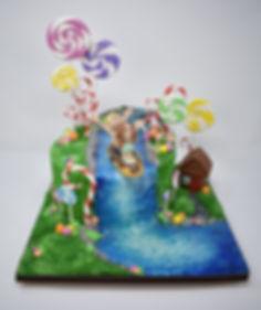 1st Place Sugar Falls Single Tier  cake