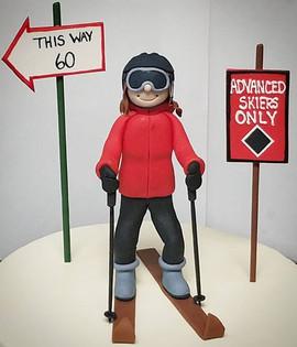 Skier Figurine