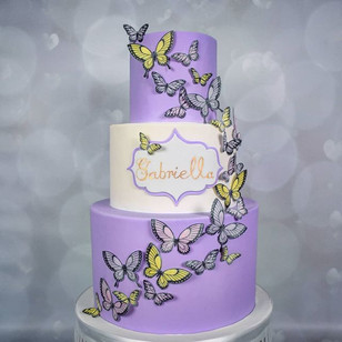 Wafer Paper Butterfly Cake